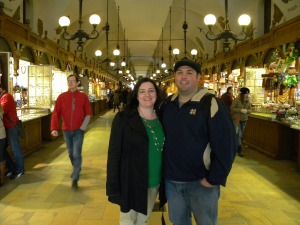 Amy & me in Cloth Hall in Krakow